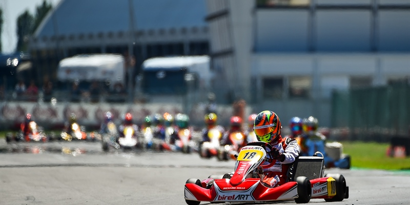 Alex Irlando concludes the double header of the WSK Super Master Series