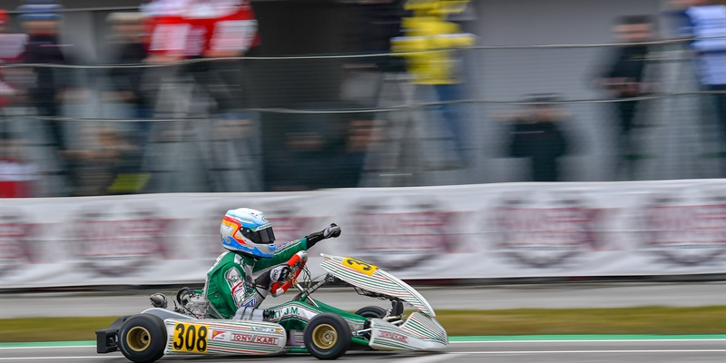 Rain conditions don't stop Tony Kart Racing Team in the first meeting of the WSK Super Masters...