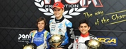 Travisanutto (OK), Antonelli (OKJ) and Al Dhaheri (60Mini), together with Ardigò (KZ2) are the...