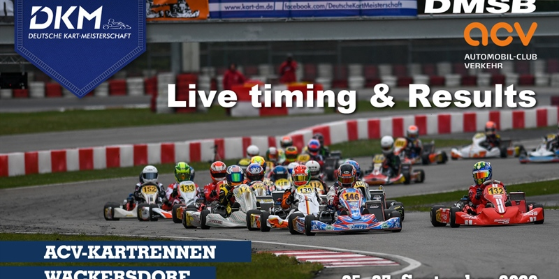 Livetiming and Results: DKM at Prokart Raceland, Wackersdorf