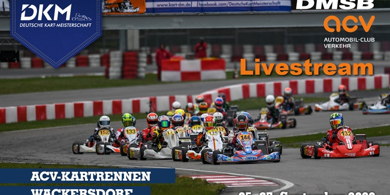 Sunday Livestream: DKM at Prokart Raceland, Wackersdorf