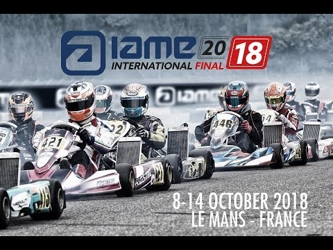 Livestream of the Saturday's IAME X30 races in Le Mans,