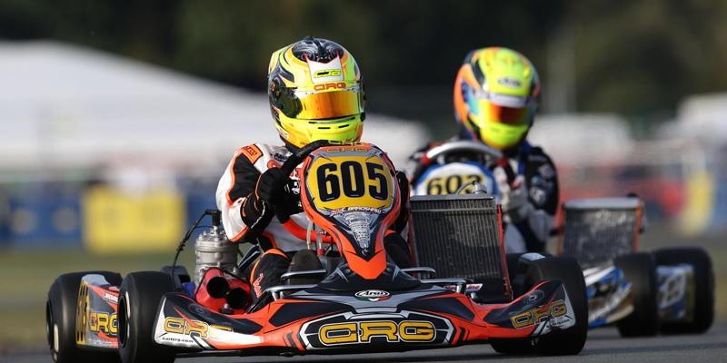 Bradshaw and CRG on the podium of the Iame International Final