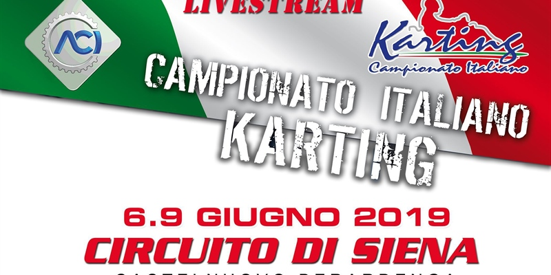 Livestreaming: 2e round of the Italian ACI Karting Championship in Siena