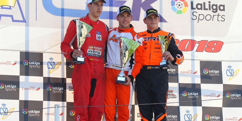 CRG Champions in Spain with Hiltbrand in KZ2 and Fontecha in Senior