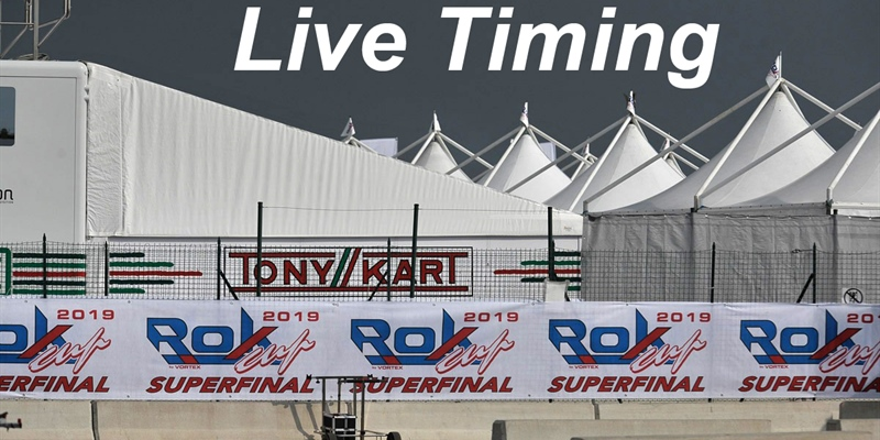 Live timing of the Rok Cup Superfinal 2019