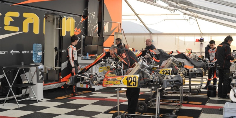The CRG Racing Team at the 25th Winter Cup