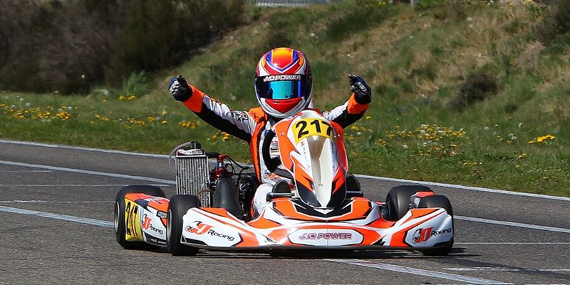 Mike van Vugt with JvD Power to win the Rotax Euro Trophy Open and his Grand Finals ticket to Sarno