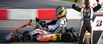 Sodi and Bas Lammers on the WSK podium at Lonato