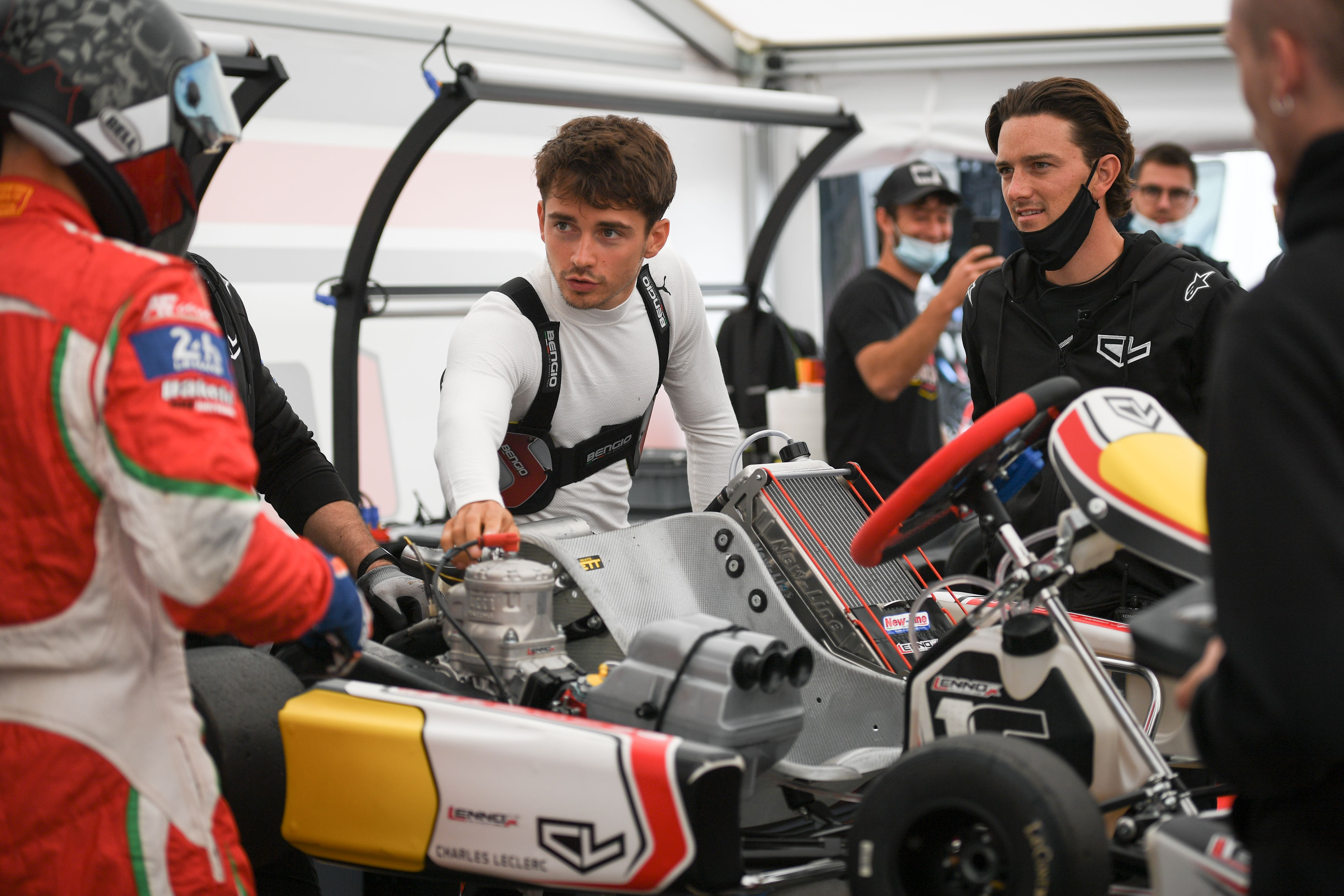 Ferrari F1 Star Charles Leclerc Guest Of The Leclerc By Lennox Racing Team Photos