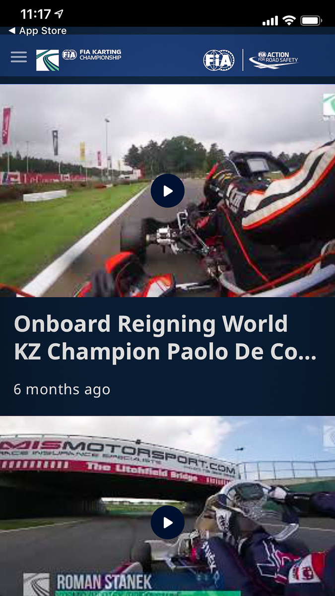 FIA Karting expands its audience with a mobile app